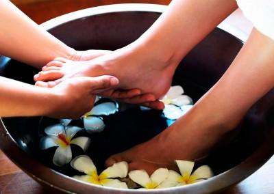 Taller de Kanso, masaje en los pies